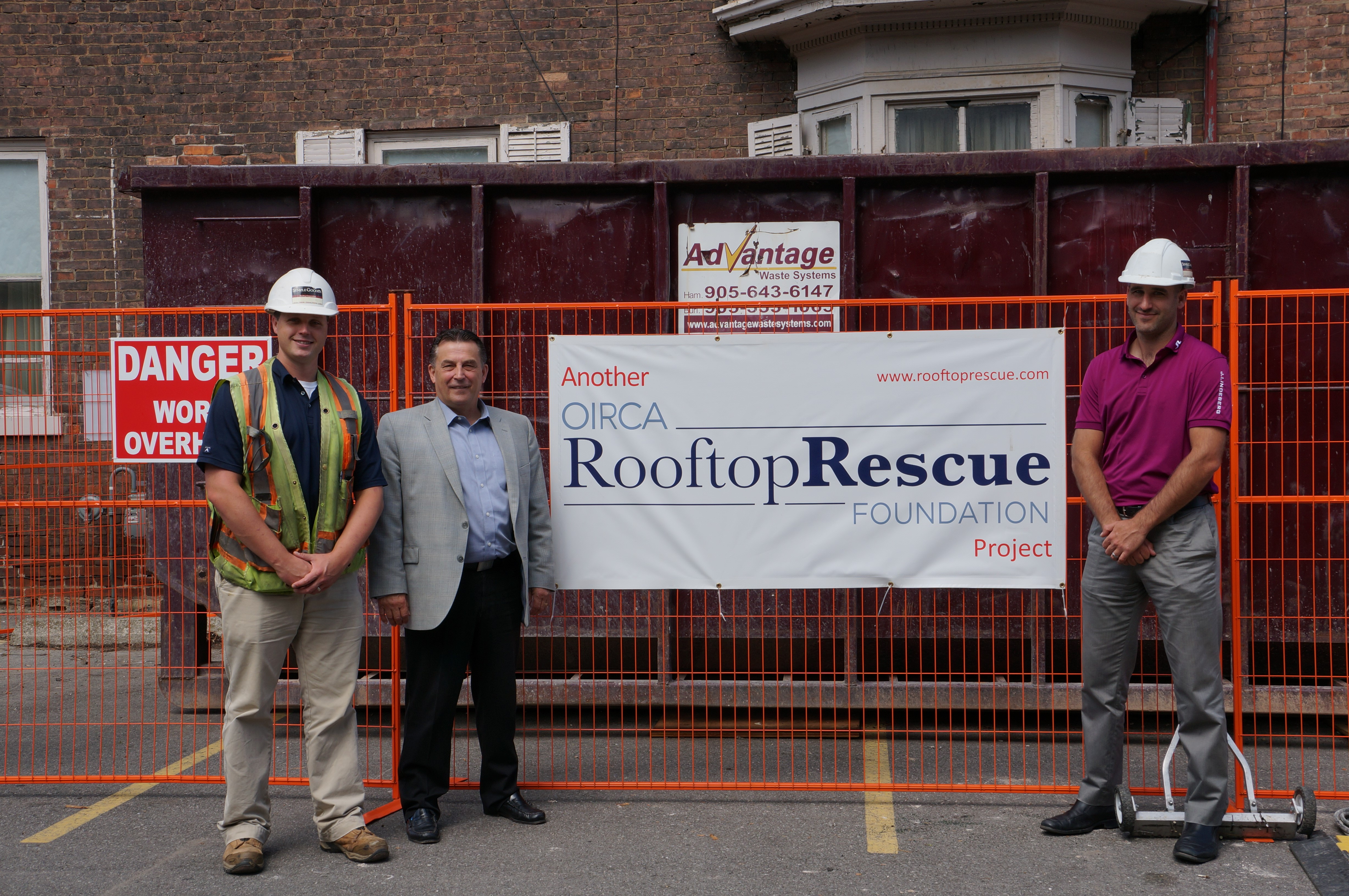 Left to Right: Dan Boyce (Superintendent, Semple-Gooder Roofing), Doug Brown (Convoy Supply) and Mark Baxter (Semple Gooder Roofing)